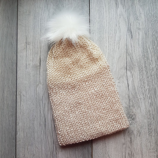 Handmade Knit Hat - Quietly Neutral