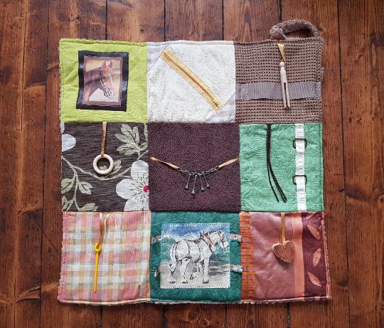 Fidget Blanket in shades of Brown