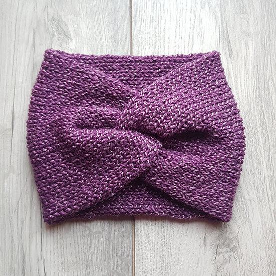 Handmade Knit Headband - Plum Twist