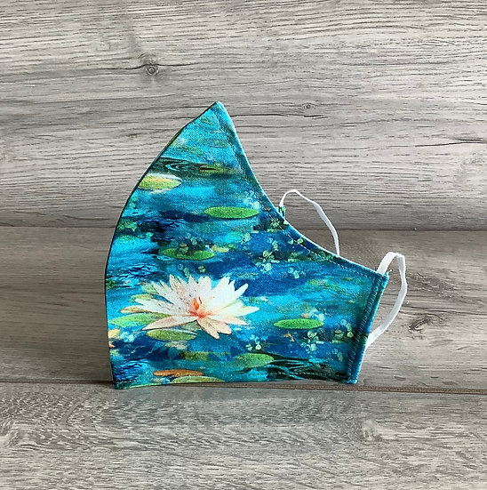 Medium Face Covering - Waterlilies
