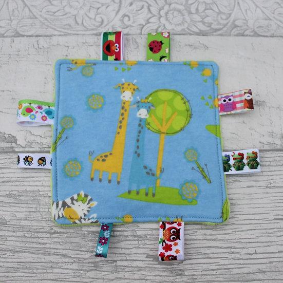 Small Tag Square - Giraffe at the Zoo
