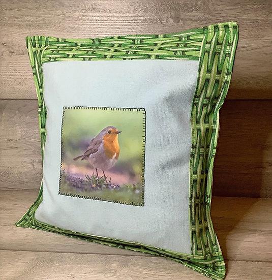 Sample Cushion ~ Bespoke Personalized Cushion Robin