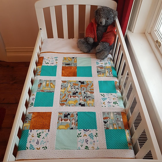 Patchwork Blanket - Raining Cats & Dogs