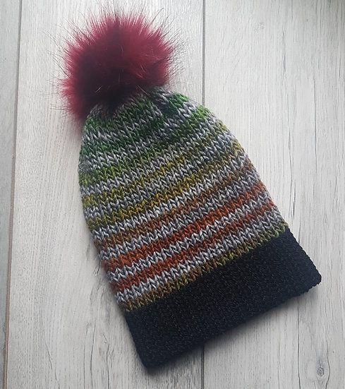 Handmade Knit Hat - Campfire