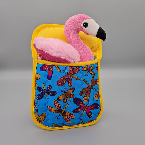 Ted in a Bed - Pink Flamingo