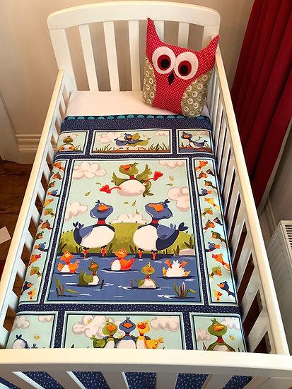 Panel  Blanket - Happy Family -ducks