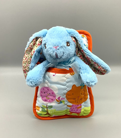 Ted in a Bed - Blue bunny