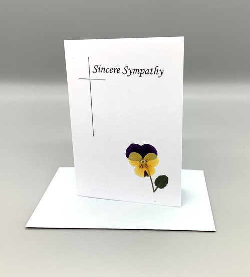 Sincere Sympathy - Yellow & purple pansy
