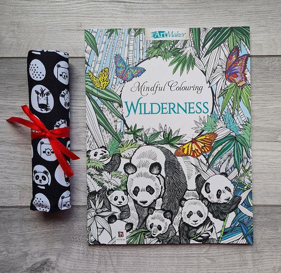 colouring book and pencil case