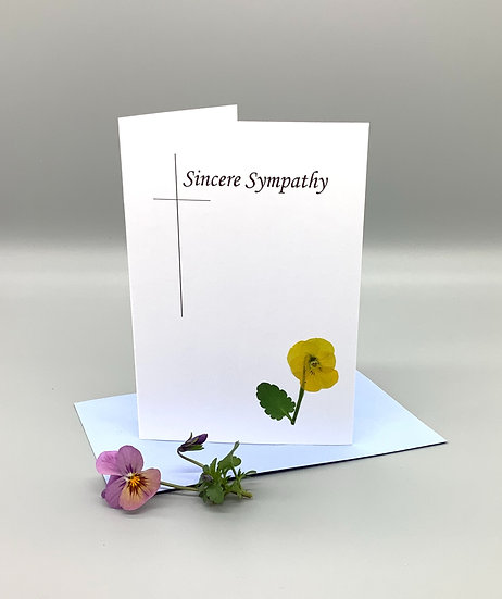 Sincere Sympathy - Yellow pansy