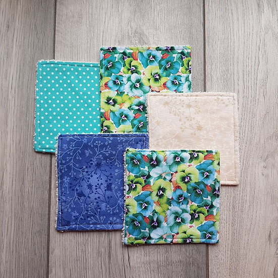 Cotton Cosmetic Pads - Spring Garden