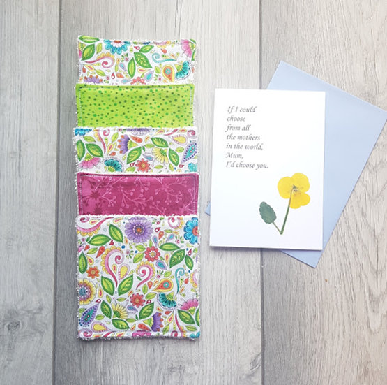 Mother's Day Gift & Card - Cotton Cosmetic Pads - Spring has Sprung