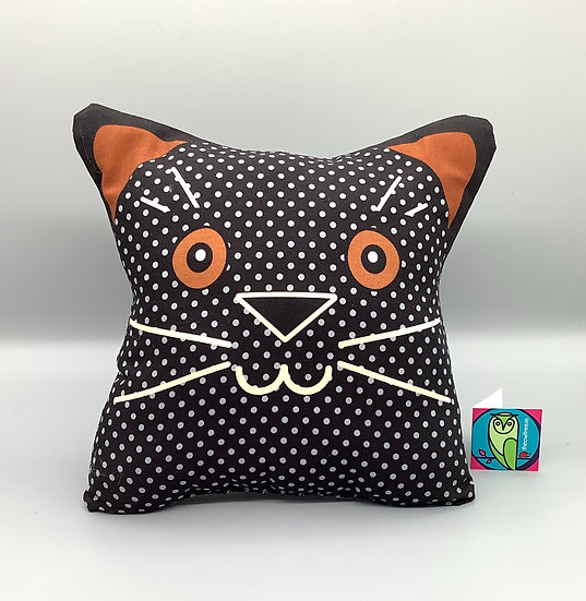 Cat Cushion - Black Cat