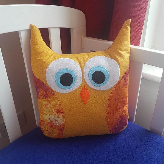 handmade owl cushion