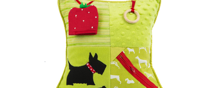 Fidget Cushion ~ Scottie Dogs and Strawberries