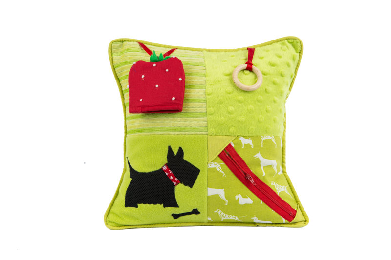 Fidget Cushion ~ Scottie Dogs and Strawberries