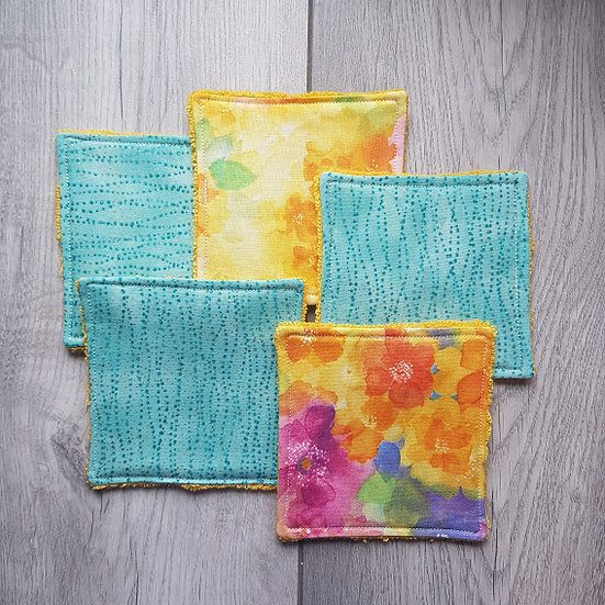 Cotton Cosmetic Pads - Pastel Blooms