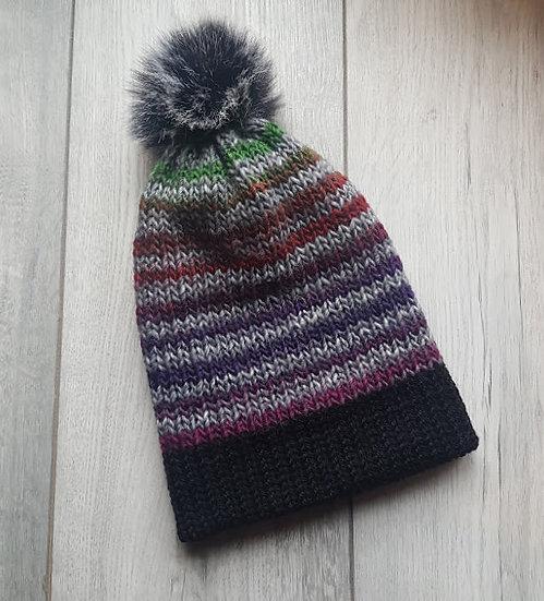 Handmade Knit Hat - Winter Berries