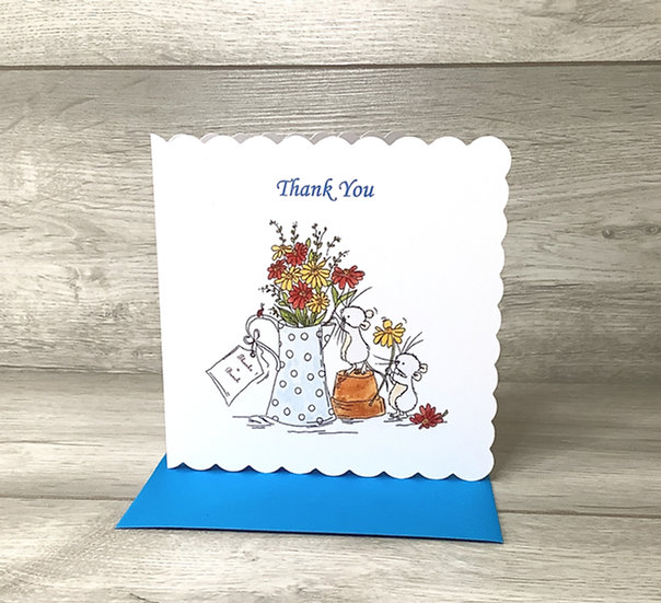 Stamped card-  Thank You