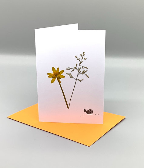 Blank Card - Yellow and grass