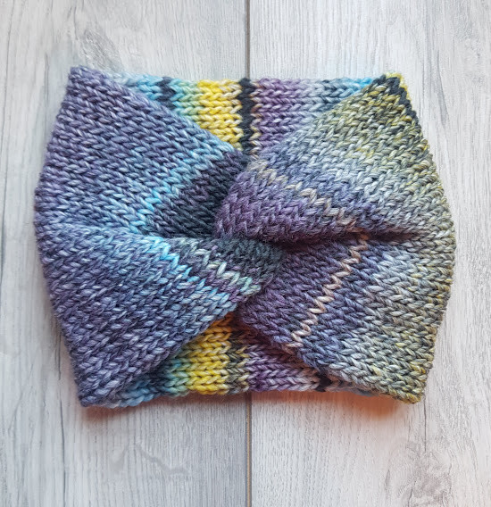 Handmade Knitted Headband - Blackberry