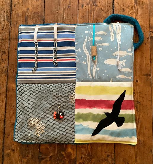 Mini Fidget Blanket - 'Gone Fishing'