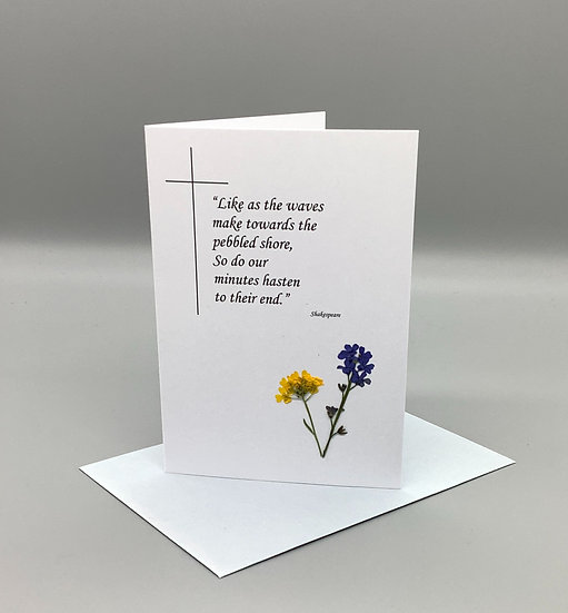 Sympathy Card Shakespeare - Forget-me-not