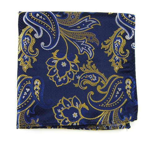 H1-2b pin paisley navy gold