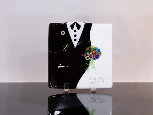 Bride/Groom Plate