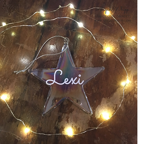 Glass Star decoration - personalised