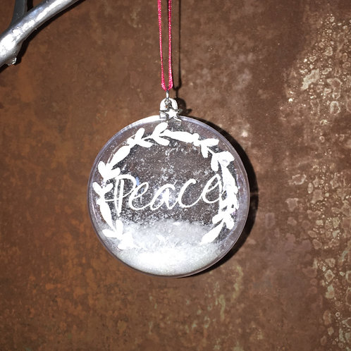Peace Wreath - bauble