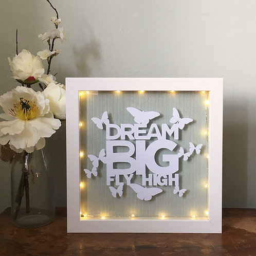 Dream Big fly high - micro lights