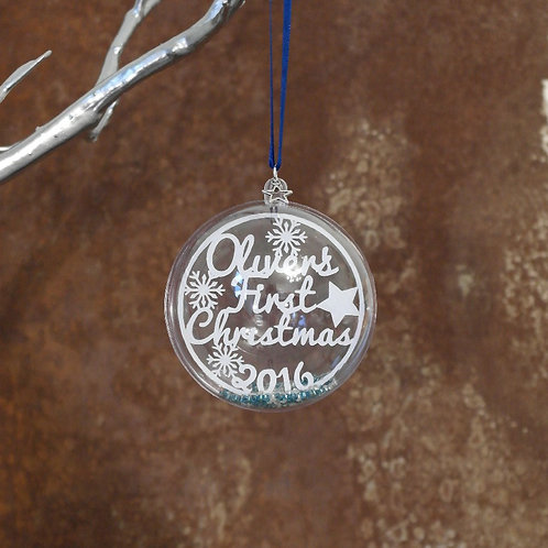 Personalised First Christmas - bauble