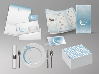 Luna : fine dine restaurant branding