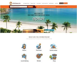 Chickoo website design concept