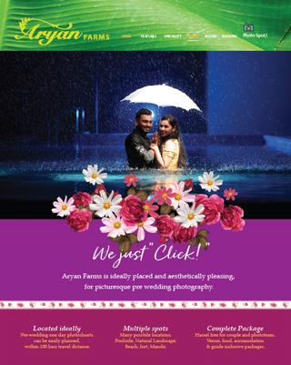 Website design for Resort