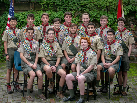 An Outstanding Class of Eagle Scouts from Troop 204