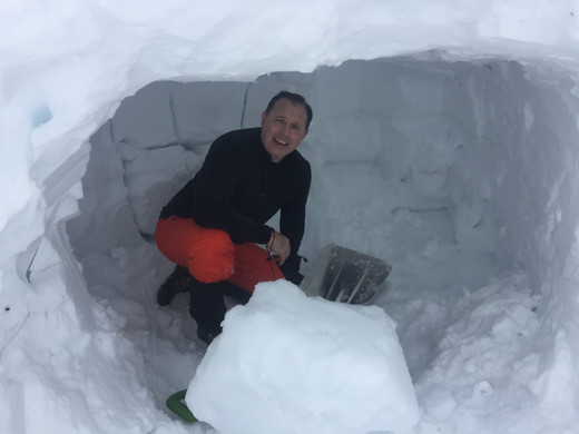 Snow Cave...Will Be Warm Tonight