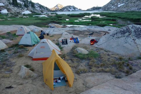 Tents at 11,000 Ft