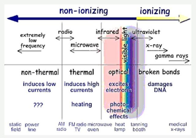 Website Non-Ionizing Radiation breaks bo