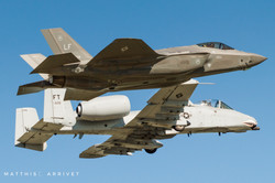F-35 and A-10 formation