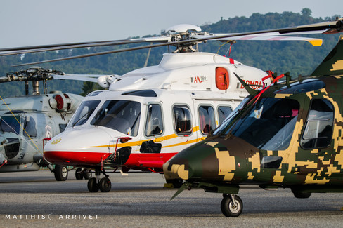 Malaysian firefighters AW139
