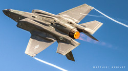 F-35C Lightning II inverted