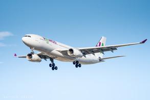 Wamos Airbus A330 landing at  Marseille