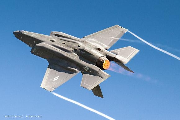 USAF F-35A Lightning II poster