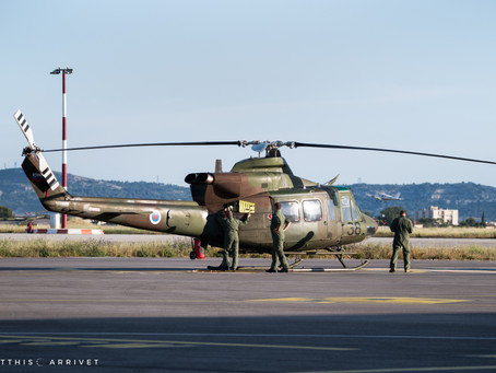 Slovenian Armed Forces Bell 412 visits Marseille