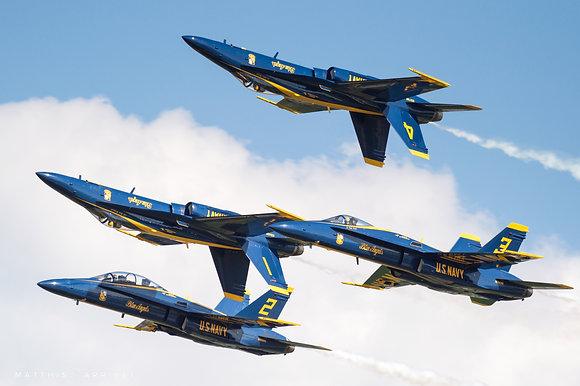 USN Blue Angels F/A-18A/B Hornet poster