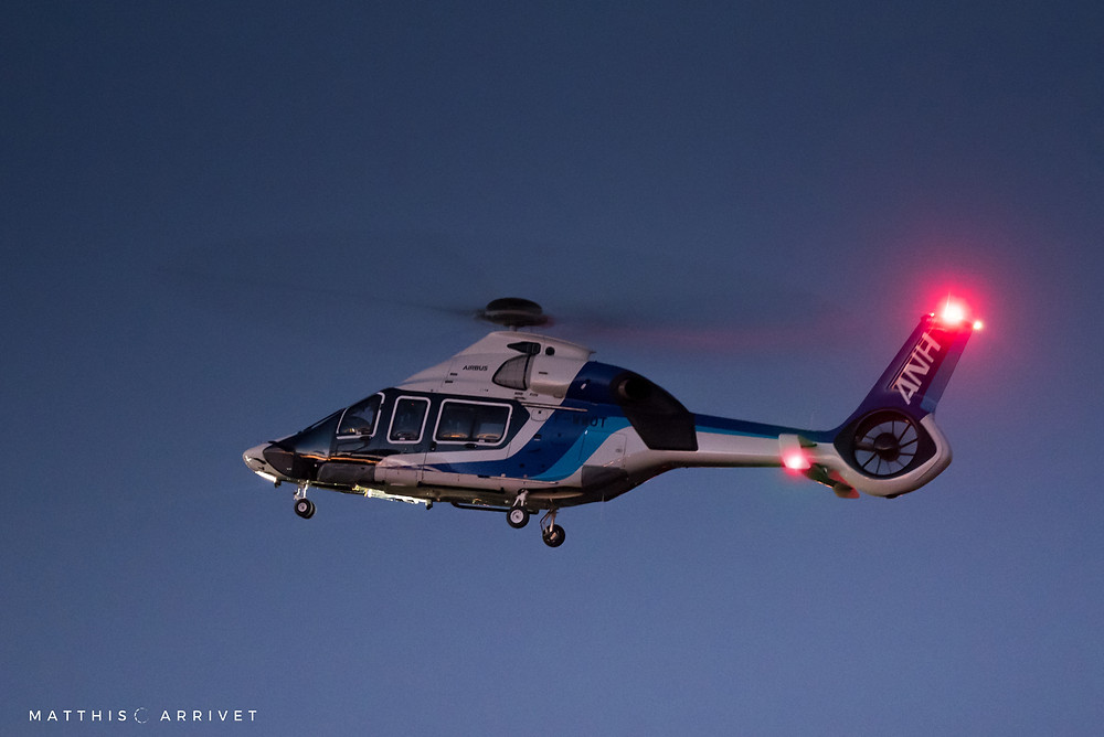 H160 landing at Airbus Helicopters facilities after its first flight over Camargue
