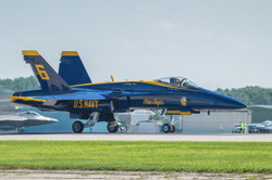 Blue Angels F-18 lining up
