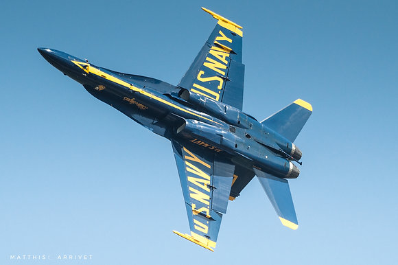 USN Blue Angels F/A-18A Hornet poster